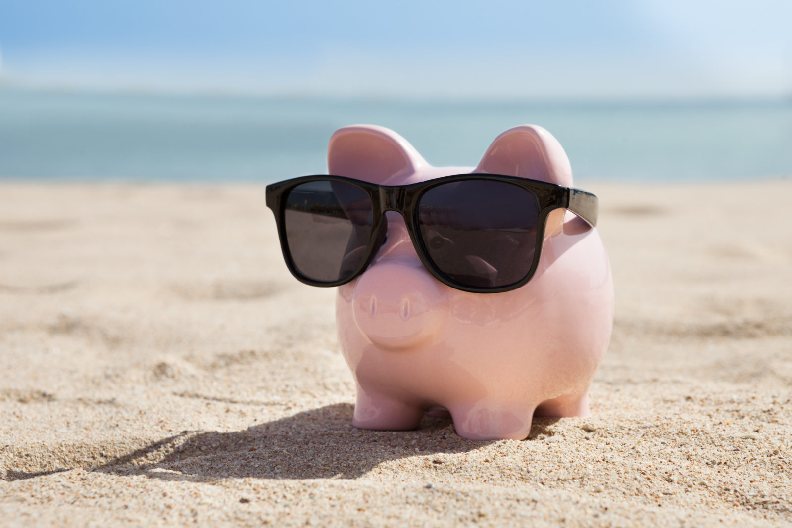 piggy bank on a beach | ROI of TCT Portal vs. Excel